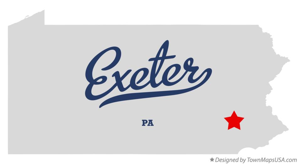 Map of Exeter Pennsylvania PA