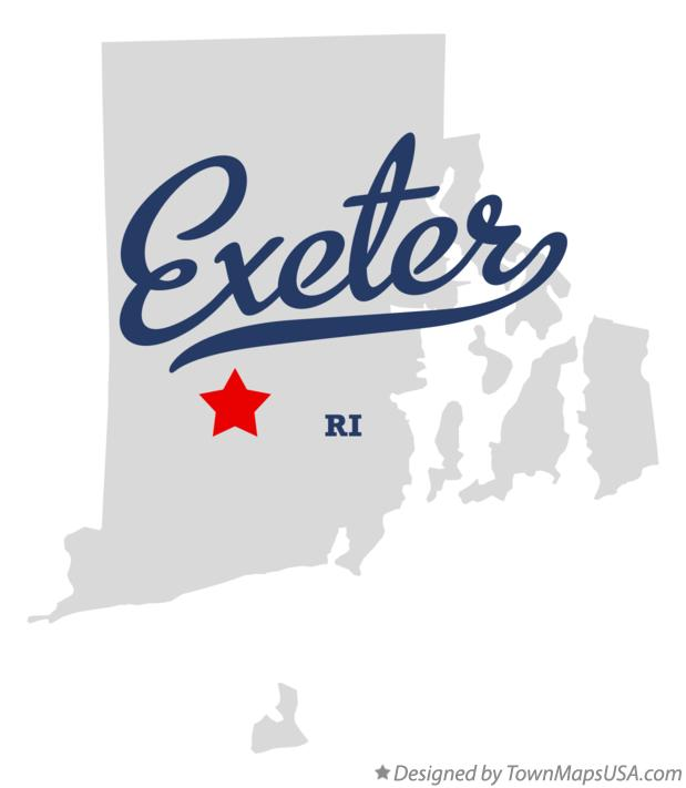 Map of Exeter Rhode Island RI