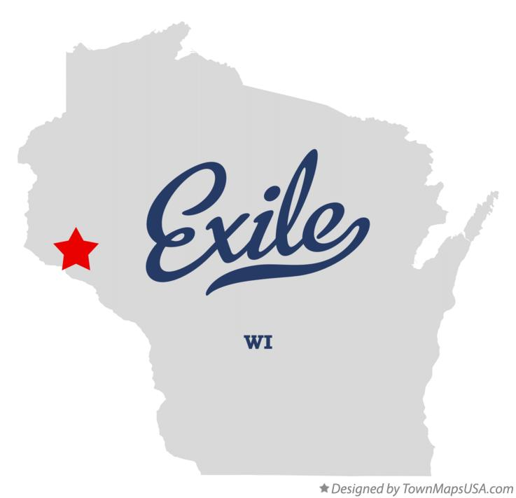 Map of Exile Wisconsin WI
