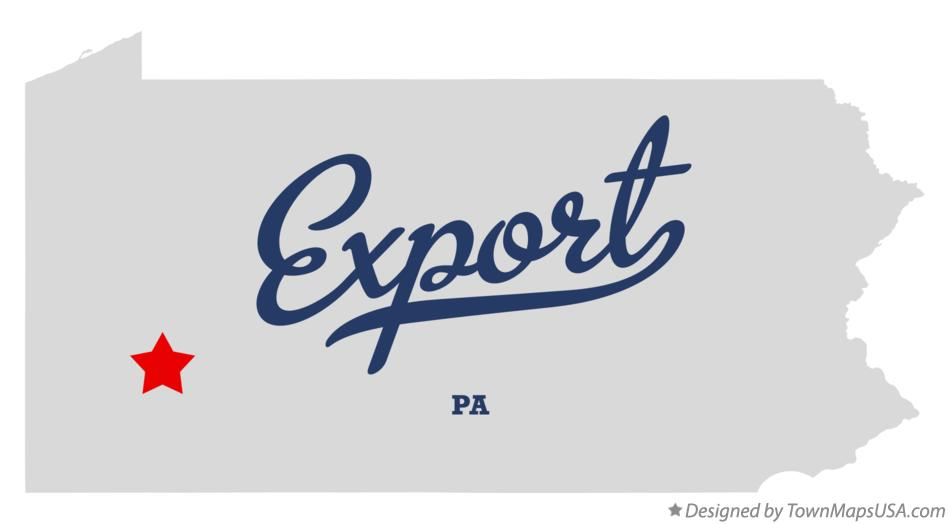 Map of Export Pennsylvania PA