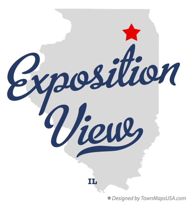 Map of Exposition View Illinois IL