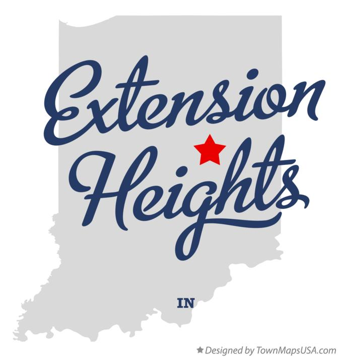 Map of Extension Heights Indiana IN