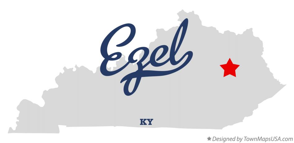 Map of Ezel Kentucky KY