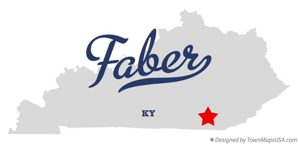 Map of Faber Kentucky KY