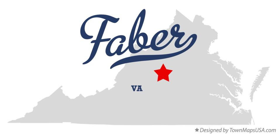Map of Faber Virginia VA