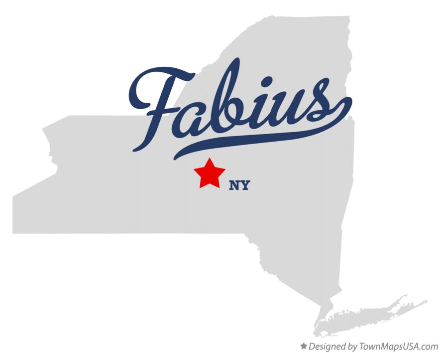 Map of Fabius New York NY