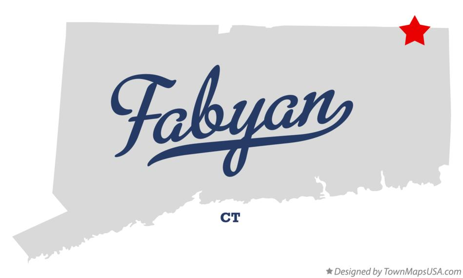 Map of Fabyan Connecticut CT