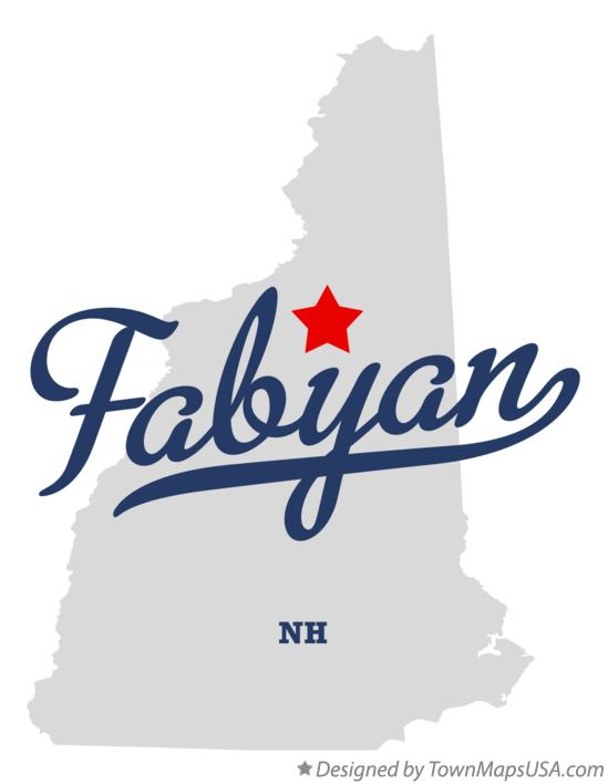 Map of Fabyan New Hampshire NH