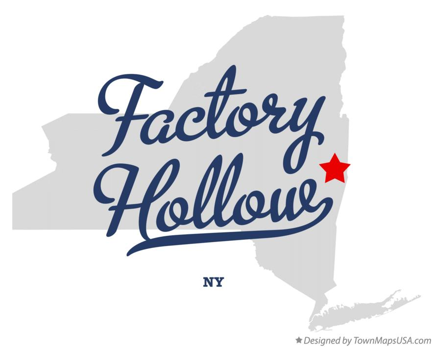 Map of Factory Hollow New York NY