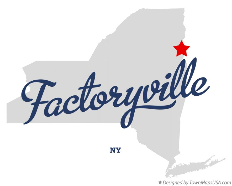 Map of Factoryville New York NY