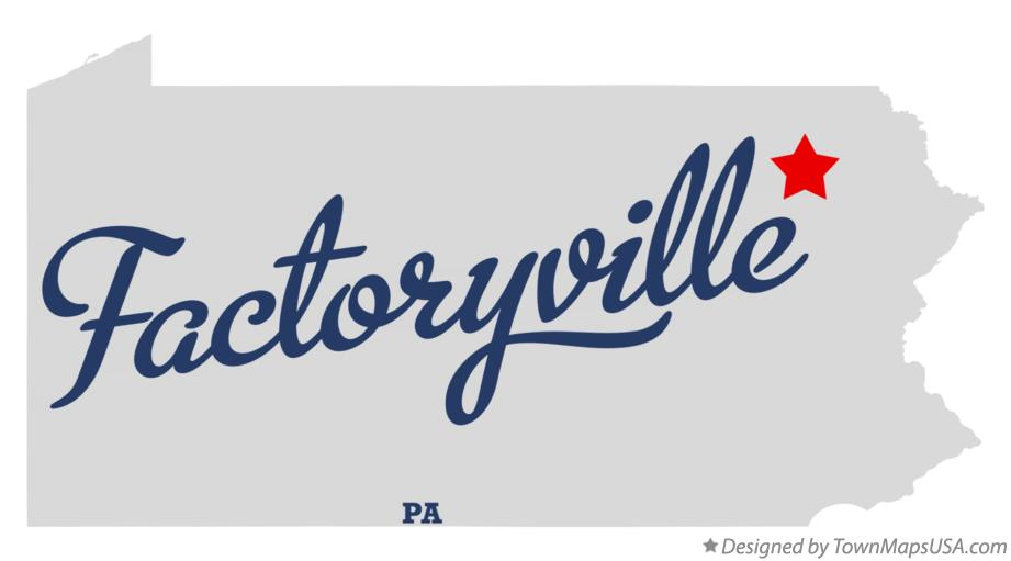 Map of Factoryville Pennsylvania PA