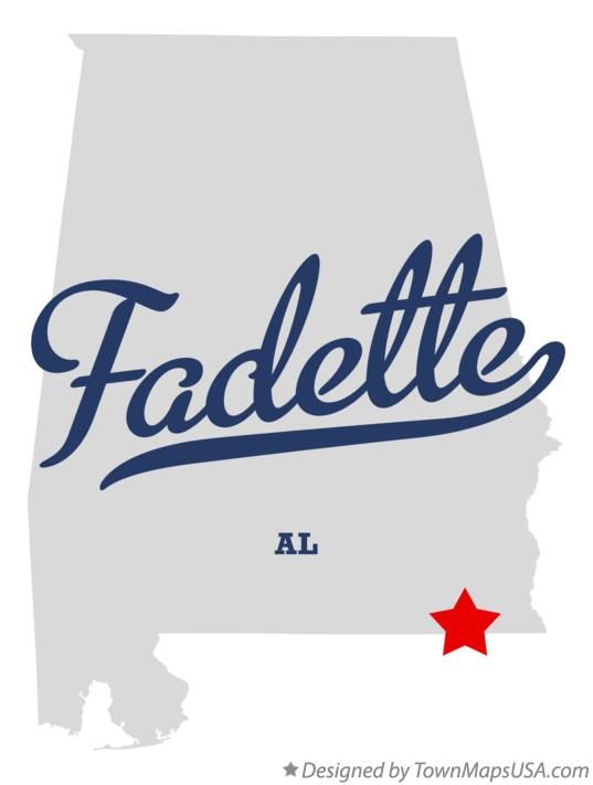 Map of Fadette Alabama AL