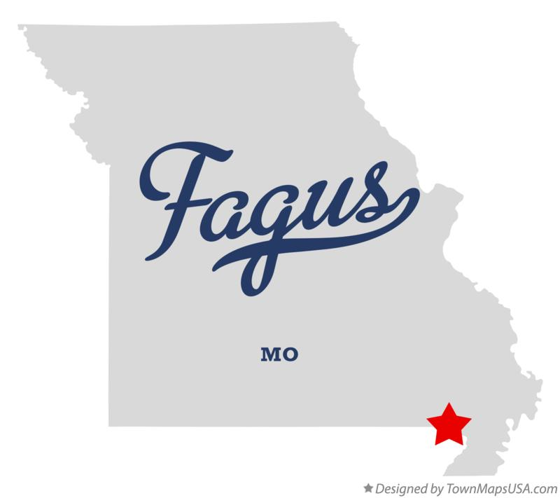 Map of Fagus Missouri MO