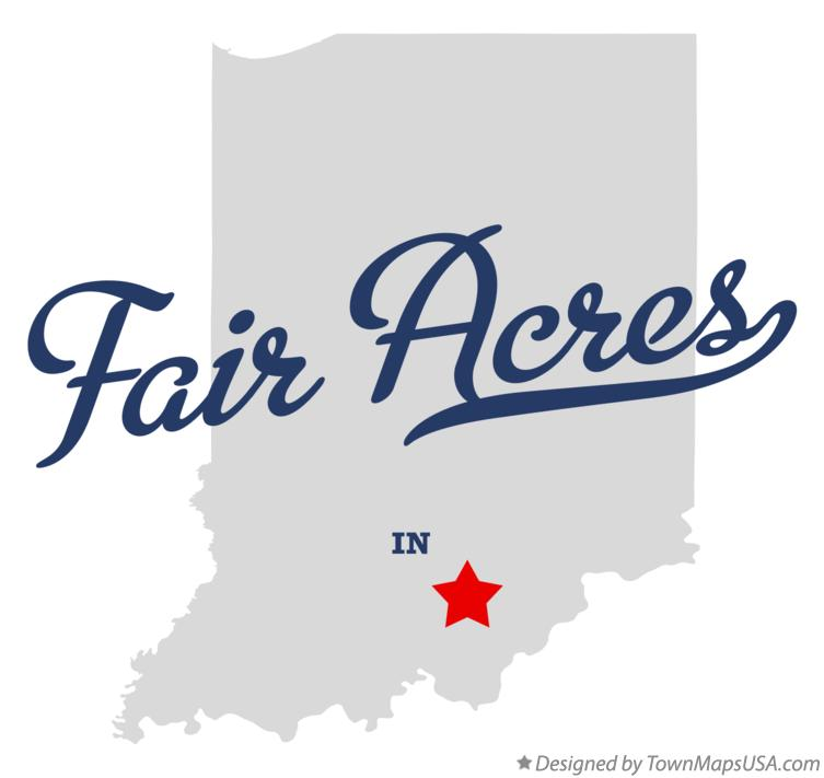 Map of Fair Acres Indiana IN