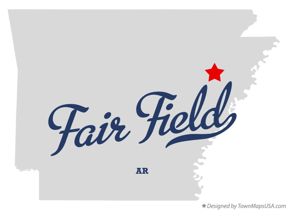 Map of Fair Field Arkansas AR