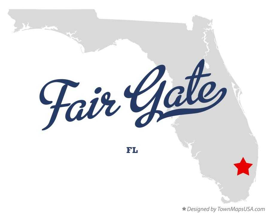 Map of Fair Gate Florida FL
