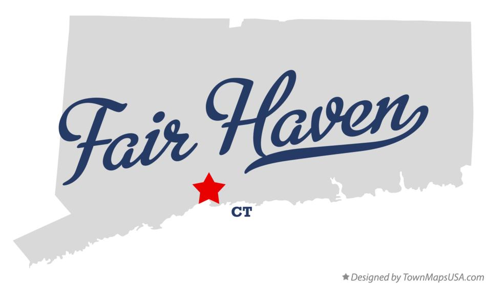Map of Fair Haven Connecticut CT