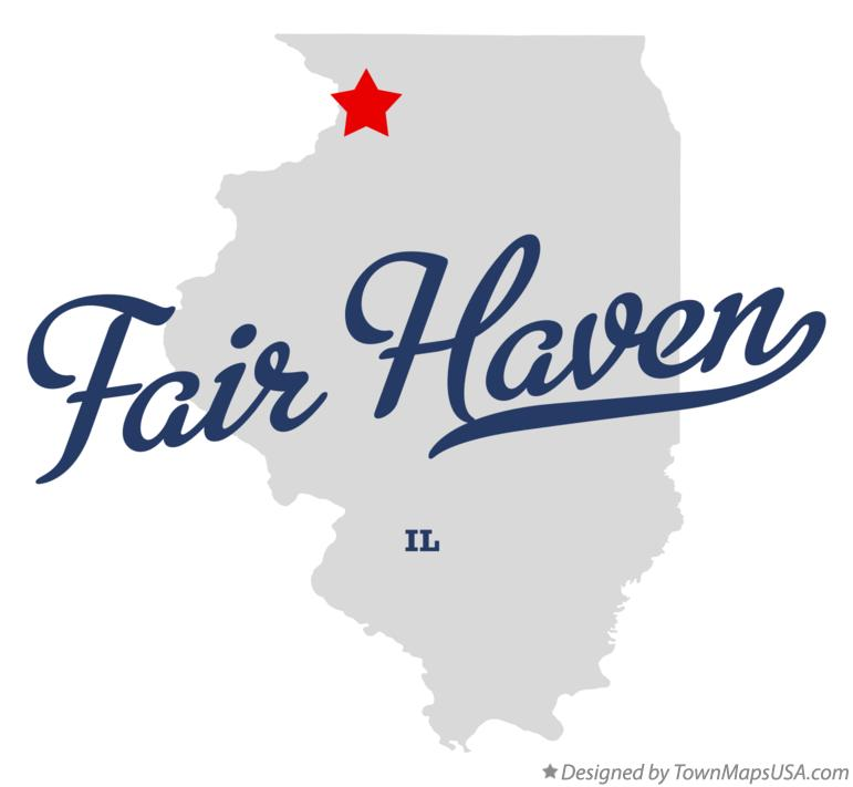 Map of Fair Haven Illinois IL