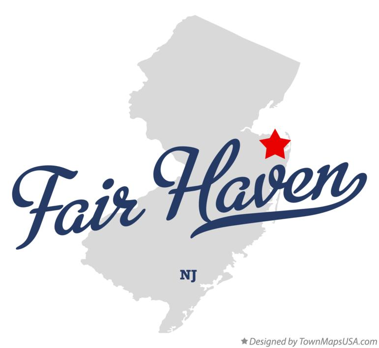 Map of Fair Haven New Jersey NJ