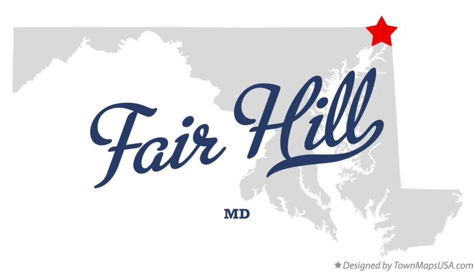 Map of Fair Hill Maryland MD