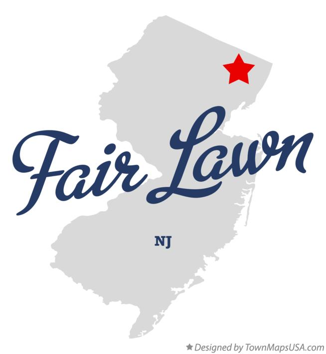Map of Fair Lawn New Jersey NJ