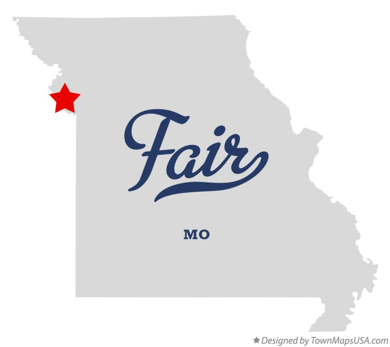 Map of Fair Missouri MO