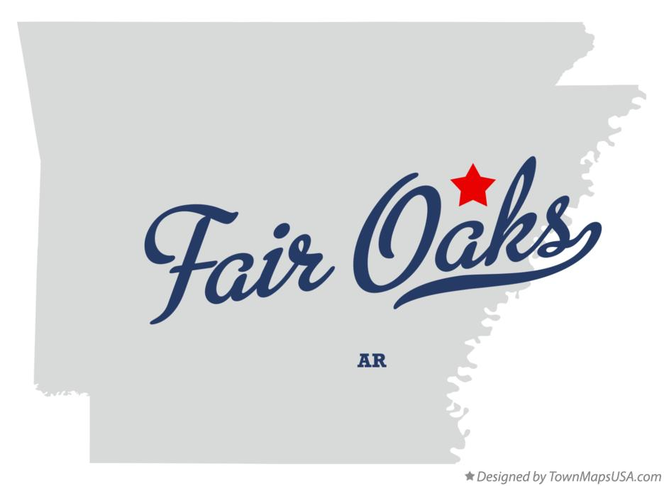 Map of Fair Oaks Arkansas AR