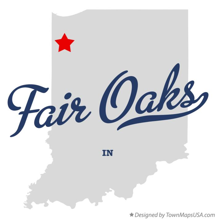Map of Fair Oaks Indiana IN