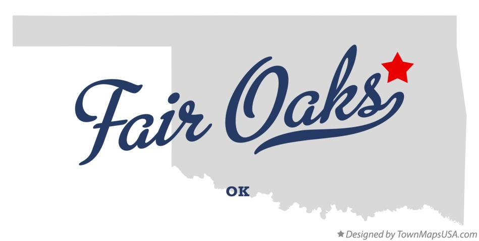 Map of Fair Oaks Oklahoma OK