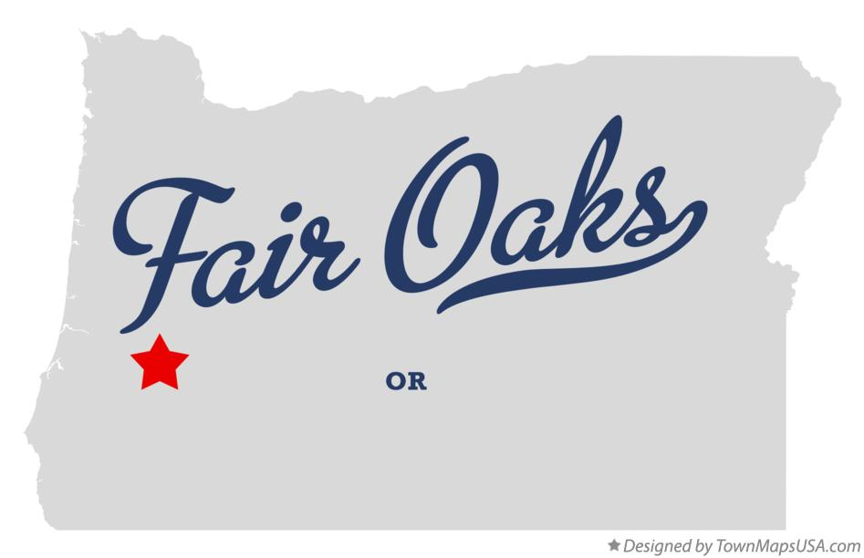 Map of Fair Oaks Oregon OR