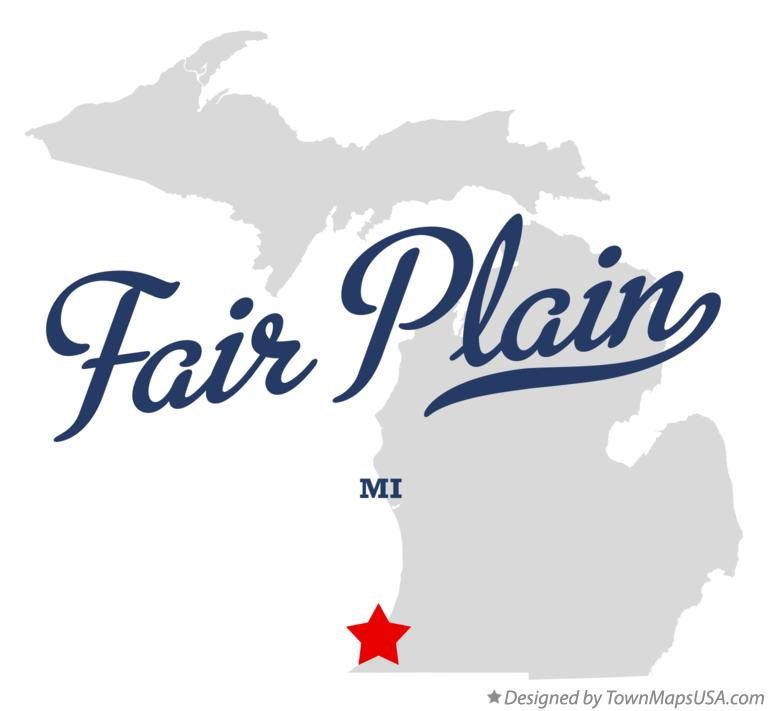 Map of Fair Plain Michigan MI