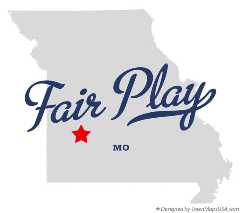Map of Fair Play Missouri MO
