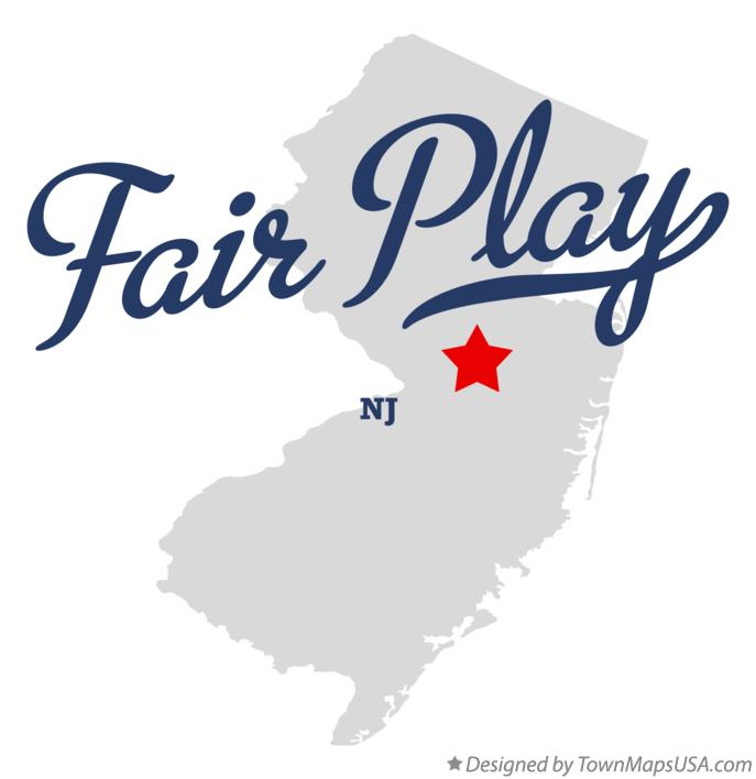 Map of Fair Play New Jersey NJ