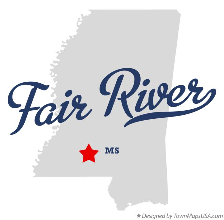 Map of Fair River Mississippi MS