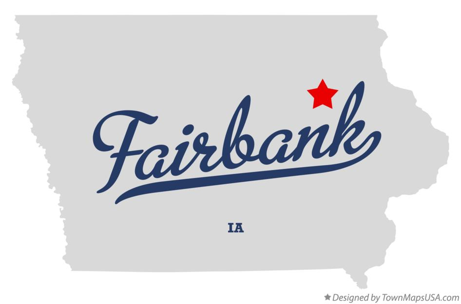 Map of Fairbank Iowa IA