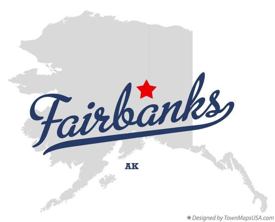 Map of Fairbanks Alaska AK