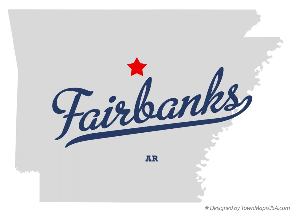 Map of Fairbanks Arkansas AR