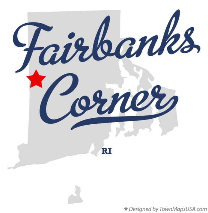 Map of Fairbanks Corner Rhode Island RI