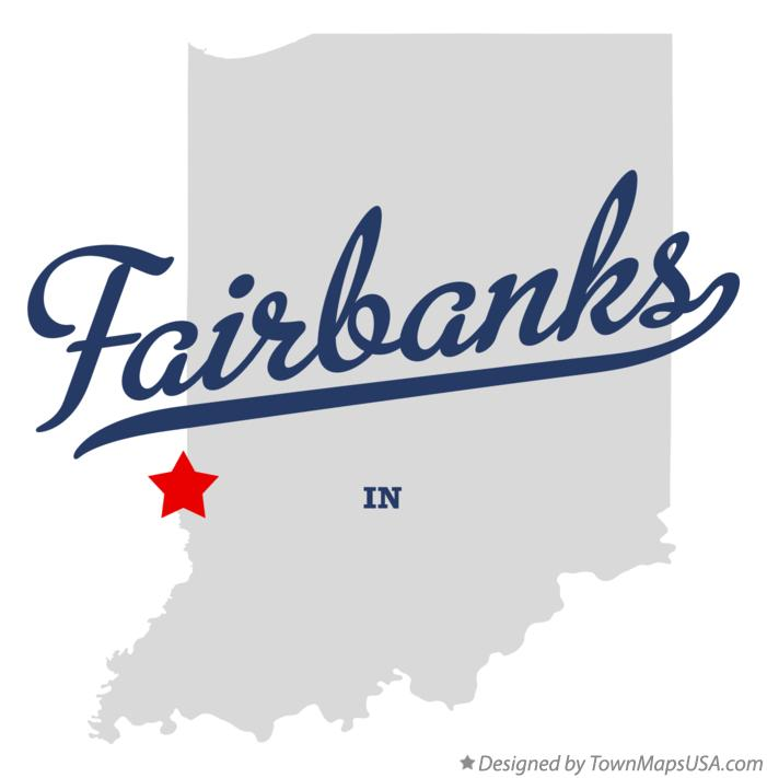 Map of Fairbanks Indiana IN