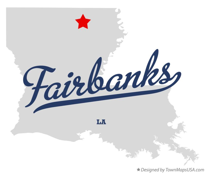 Map of Fairbanks Louisiana LA