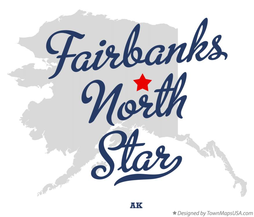 Map of Fairbanks North Star Alaska AK