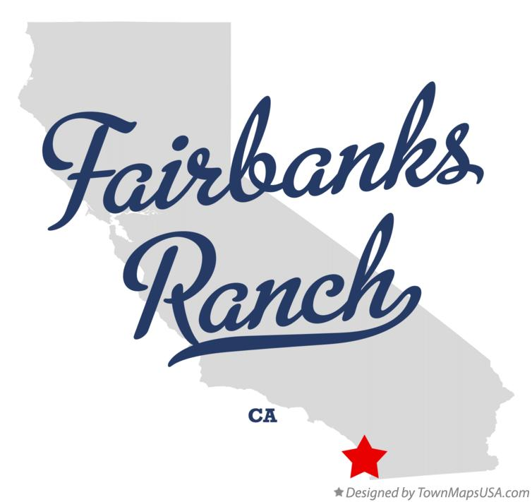 Map of Fairbanks Ranch California CA