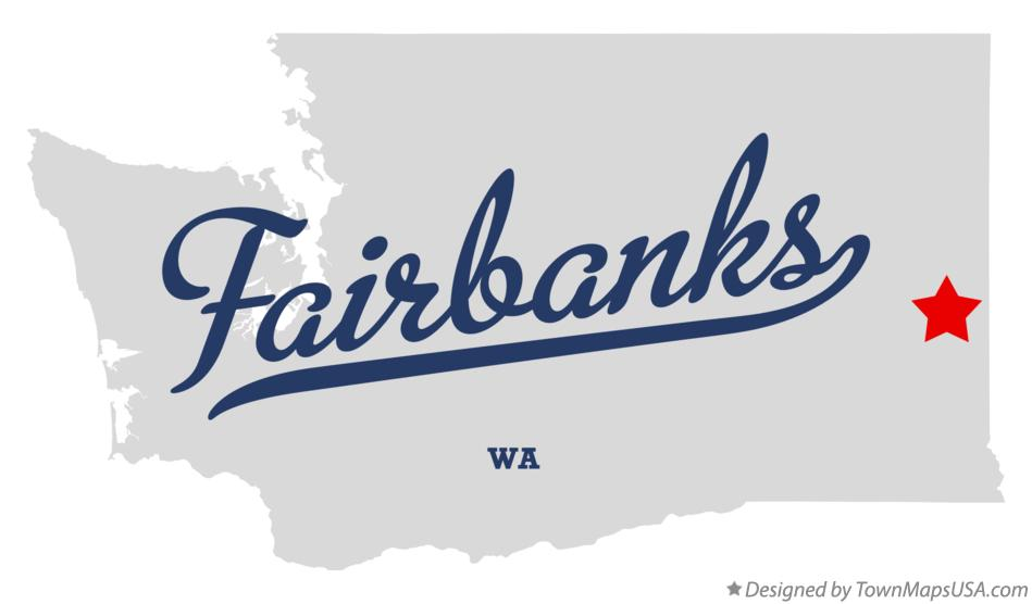 Map of Fairbanks Washington WA