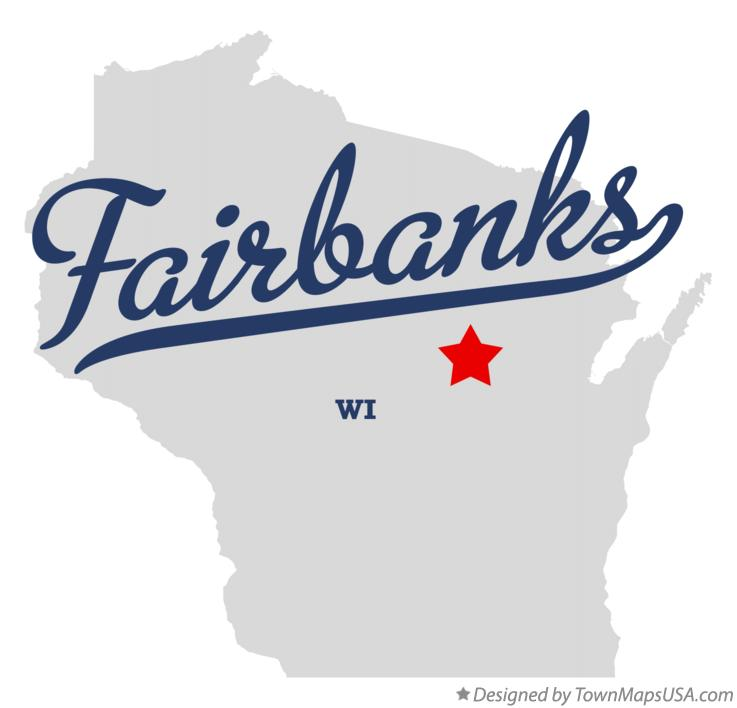 Map of Fairbanks Wisconsin WI