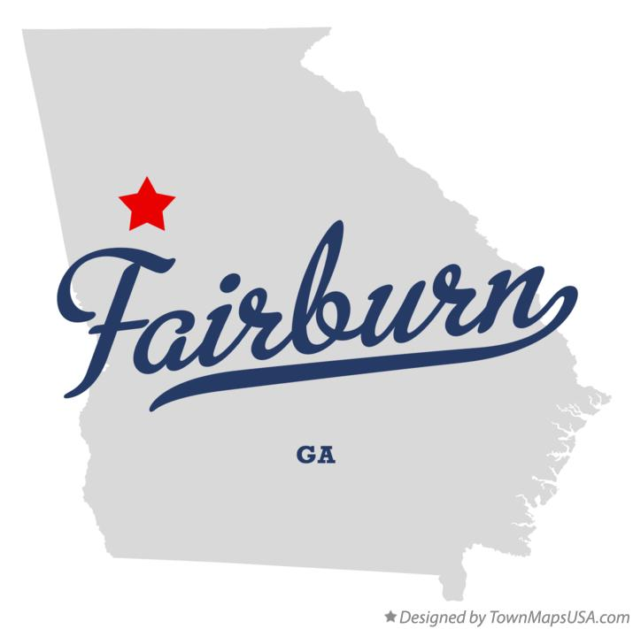 Austell Georgia Map Map of Fairburn Georgia ga