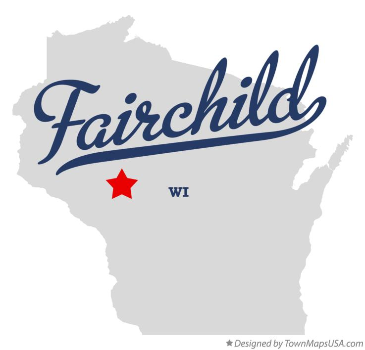 Map of Fairchild Wisconsin WI