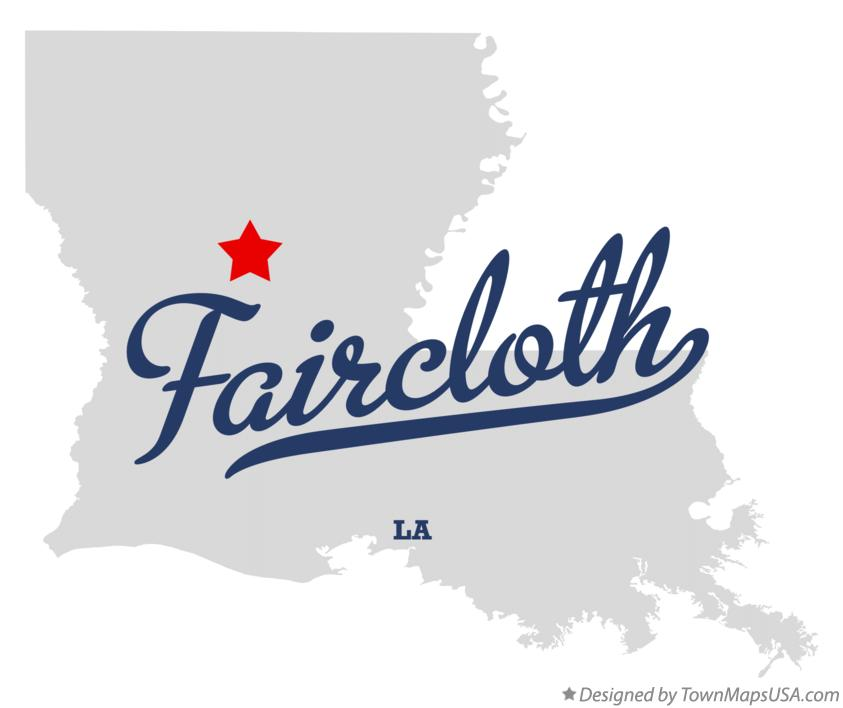 Map of Faircloth Louisiana LA