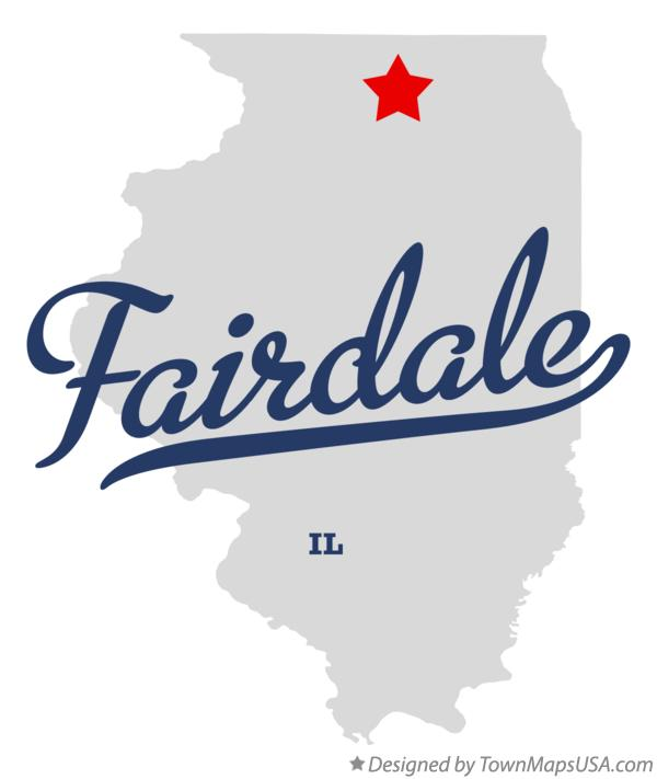 Map Of Fairdale Il Illinois