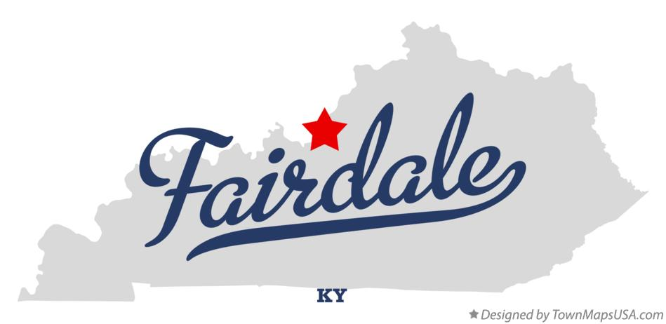 Map of Fairdale Kentucky KY