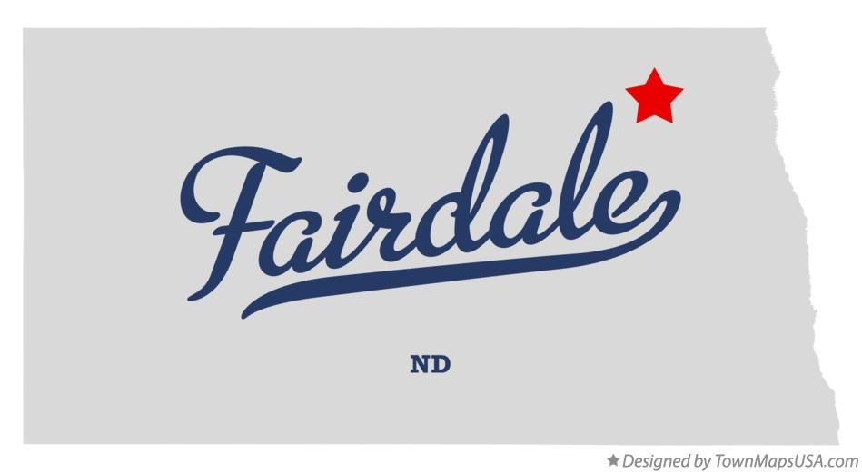 Map of Fairdale North Dakota ND